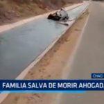 La Libertad: Familia salva de morir ahogada