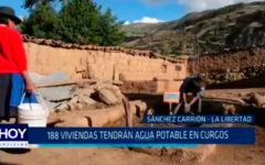 188 viviendas tendrán agua potable en Curgos