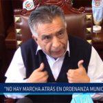 """Chiclayo: """"No hay marcha atrás en ordenanza municipal"""""""