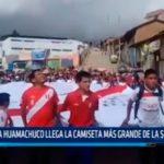 A Huamachuco llega la camiseta más grande de la selección
