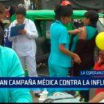 Realizan campaña médica contra la influenza