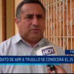 Candidato de APP a Trujillo se conocerá el 25 de mayo