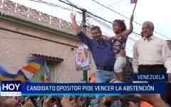 Venezuela: Candidato opositor pide vencer la abstención