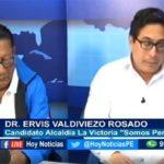 Chiclayo: Estuvo en nuestro set el candidato a la alcaldía de La Victoria, Dr. Ervis Valdiviezo Rosado por Somos Perú