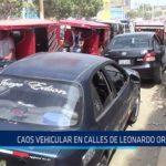 Chiclayo: Caos vehicular en calles de Leonardo Ortiz