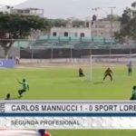 Carlos A. Mannucci venció 1 – 0 a Sport Loreto
