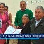MPT entrega 150 títulos de propiedad en Villa Judicial
