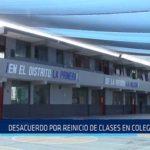 Chiclayo: Desacuerdo por reinicio de clases en colegio de JLO