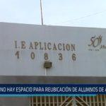 """""""No hay espacio para reubicación de alumnos de Aplicación"""""""