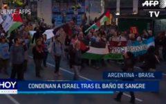 Argentina – Brasil: Condenan a Israel tras el baño de sangre