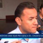 Fujimorismo debe dejar presidencia del Congreso según Acuña