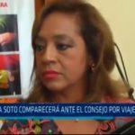 Julia Soto comparecerá ante el Consejo por viaje a Brasil