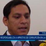 Valdez responsabiliza a apristas de corrupción