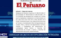 Piura: Derogan decretos de exploración petrolera