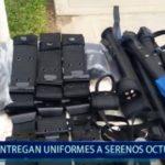 Piura: Entregan uniformes a serenos octubrinos