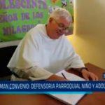 Firman convenio: Defensoria Parroquial niño y adolescente