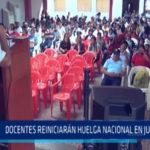 Chimbote: Docentes reiniciarán huelga nacional en junio