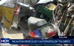 Piura: Incautan vehículos y autopartes de dudosa procedencia