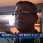 Chiclayo: No aceptarán actos de indisciplina en el Ejército