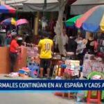 Trujillo: Informales continúan en avenida España y caos aumenta