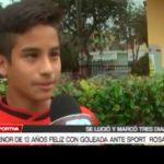 Menor de 13 años feliz con goleada ante Sport  Rosario