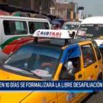 En 10 días se formalizará la libre desafiliación de taxis