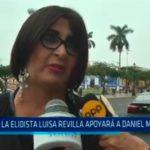 La Elidista Luisa Revilla apoyará a Daniel Marcelo