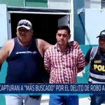 """Chiclayo: Capturan a """"Más buscado"""" por el delito de robo agravado"""