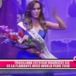 Trujillana Estefani Mauricci es la flamante Miss World Perú 2018