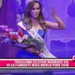 Trujillana Estefani Mauricci es la flamante Miss World Perú 2018