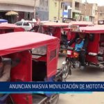 Chiclayo: Anuncian masiva movilización de mototaxistas