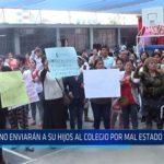 Chiclayo: No enviaran a sus hijos al colegio por mal estado de colegio