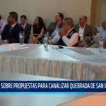 Opinan sobre propuestas para canalizar quebrada de San Ildefonso