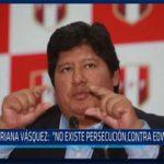 """Chiclayo: Mariana Vásquez: """"no existe persecución contra Edwin Oviedo"""""""