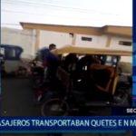 Piura: Pasajeros transportaban PBC en mototaxi