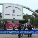 Chiclayo: Policía intervino para que no cerraran local universitario