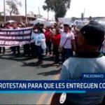 Protestan para que les entreguen colegio
