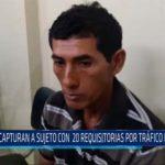 Chiclayo: Capturan a sujeto con 20 requisitorias por tráfico de drogas