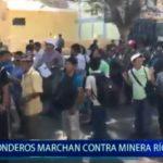 Piura: Ronderos marchan contra minera Rio Blanco