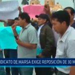 Sindicato de Marsa exige reposición de 30 mineros