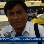 Piura: Sindicato magisterial anuncia huelga indefinida