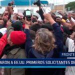 México: Pasaron a E.E.U.U primeros solicitantes de asilo