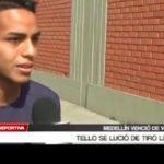 El jugador José Tello se lució de tiro libre