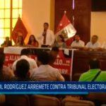 Paúl Rodríguez arremete contra tribunal electoral aprista