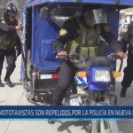Chiclayo : Mototaxistas son repelidos por la policía en nueva protesta