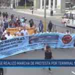 Chiclayo : Se realizó marcha de protesta por terminal marítimo