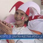 Chiclayo : Pacientes de Geriatría muestran apoyo a la Selección