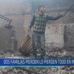 Chiclayo : Dos familias pierden todo en incendio
