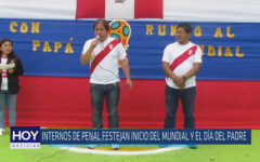 Chiclayo: Internos de penal festejan el inicio del mundial y el día del padre