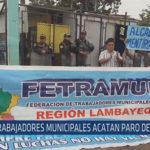 Chiclayo : Trabajadores municipales acatan paro de 24 horas